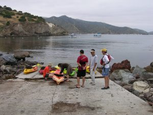 GIST students take advantage of the Wrigley Center's facilities to learn to kayak in Two Harbors.