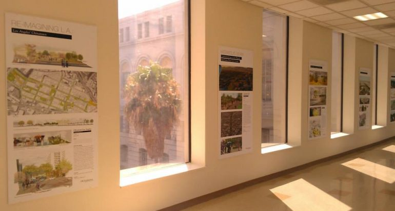 USC Landscape Architecture Student Designs Exhibited at City Hall