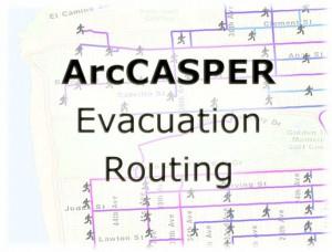 ArcCASPER is Kaveh Shahabi's evacuation routing tool for ArcGIS.