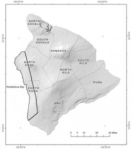 Jeff Schroeder's study area in the Kona region of Hawai'i.