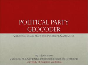 Political Party Geocoder