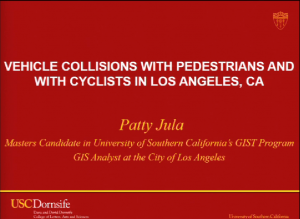 Vehicle Collisions with Pedestrians and Cyclists