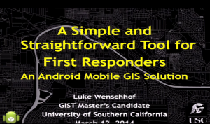 A Tool for First Responders