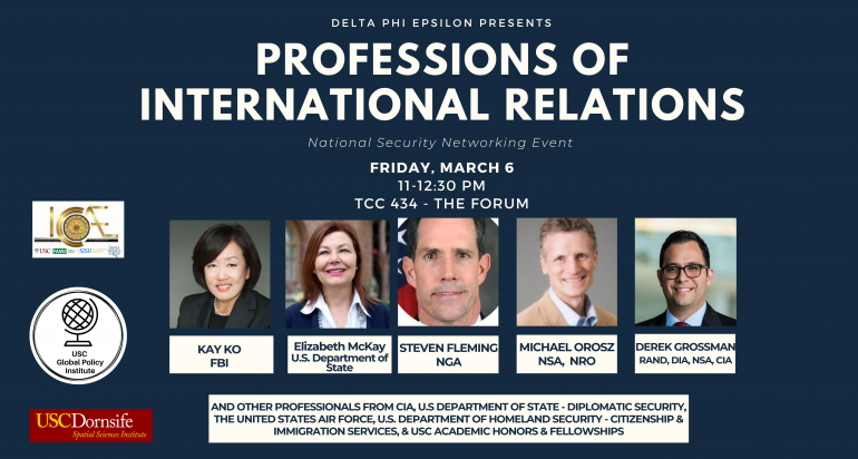 Professions of International Relations: Networking Event